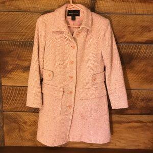 Vintage inspired pink tweed pea